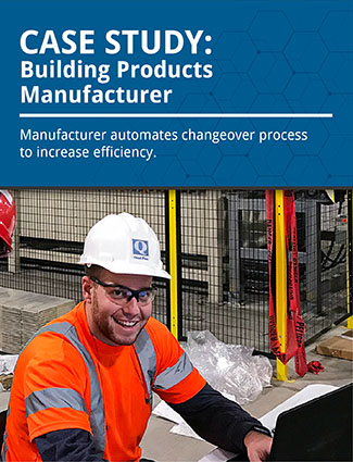 case study building products manufacturer automates changeover process to increase efficiency