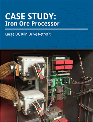 case study iron ore processor large DC kiln drive retrofit