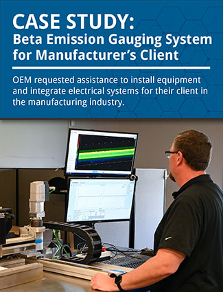 case study beta emission web gauging system for manufacturers client