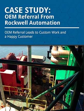 case study oem referral from rockwell automation oem referral leads to custom work and a happy customer