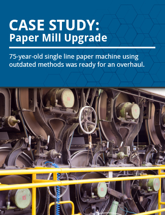 case study paper mill upgrade 75 year old single line paper machine using outdated methods was ready for an overhaul