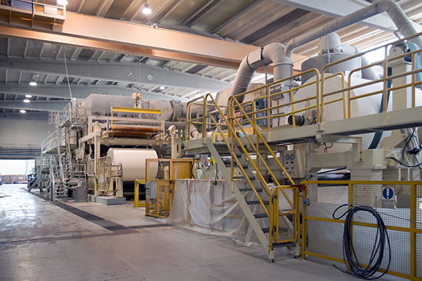 machine and system upgrade for industrial paper production in a pulp mill