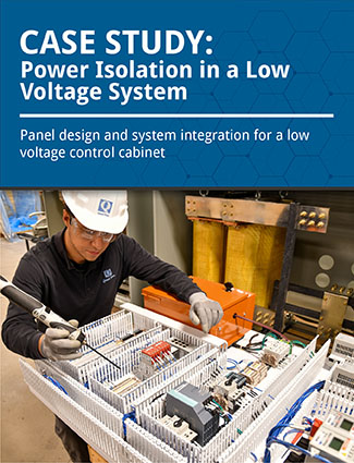 case study power isolution in a low voltage system panel design and system integration for a low voltage control cabinet