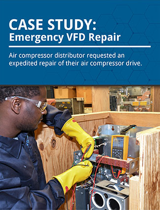 case study emergency VFD repair air compressor distributor requested an expedited repair of their air compressor drive