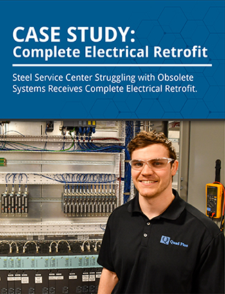 case study complete electrical retrofit steel service center struggling with obsolete systems receives complete electrical retrofit