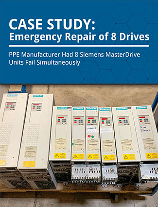 case study emergency repair of 8 drives ppe manufacturer had 8 siemens masterdrive unit fail simultaneously