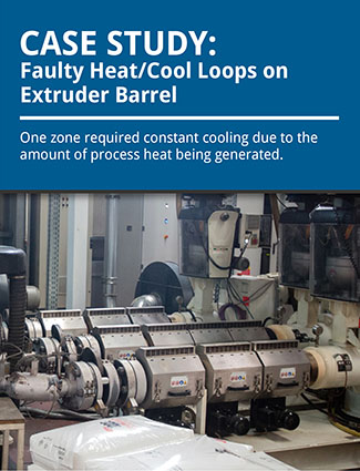 case study faulty heat cool loops on extruder barrel one zone required constant cooling due to the amount of process heat being generated